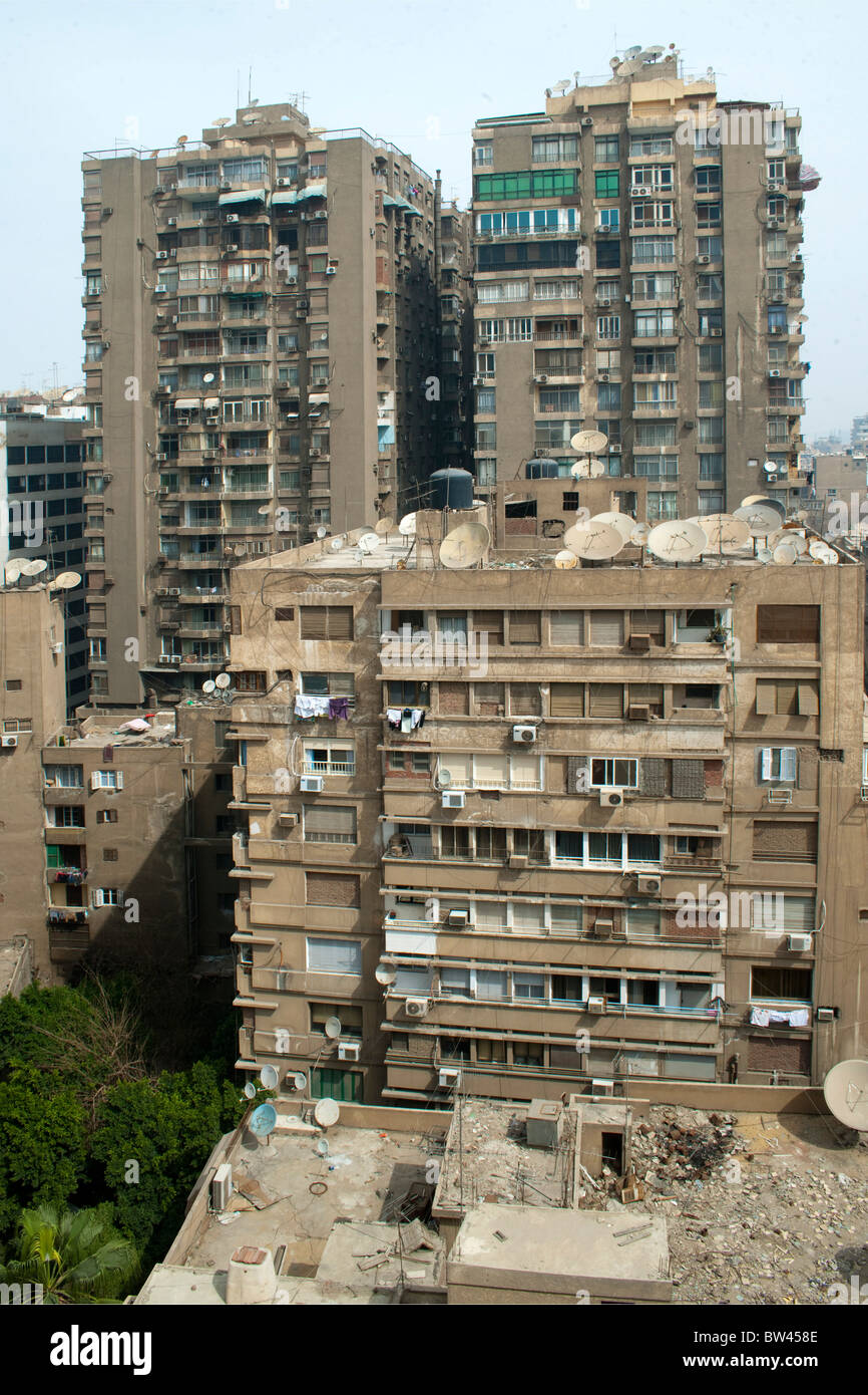 Ägypten, Kairo, Insel Gezira, Kunstgewerbe in Zamalek, Blick vom Hotel Om Kolthoom Stockbild