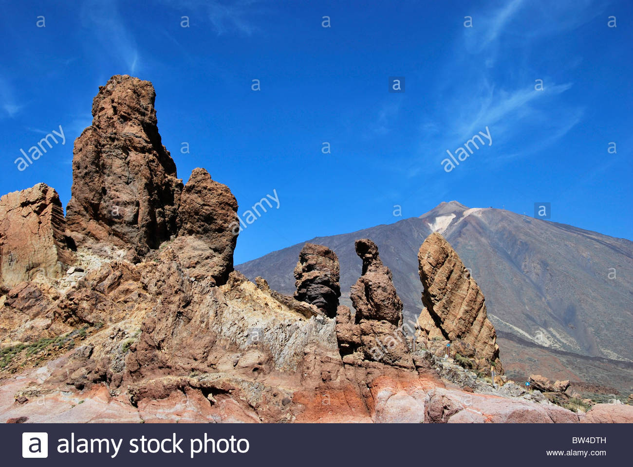 Roques de Garcia. Felsformation in den Teide. Teneriffa. Kanarischen Inseln. Spanien Stockbild