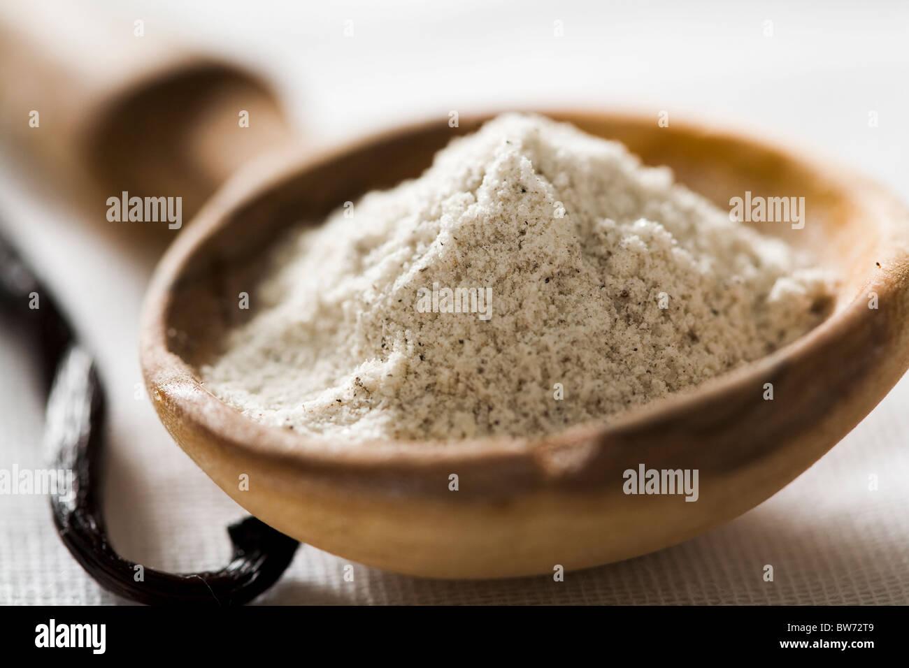 Vanillin-Zucker Stockbild