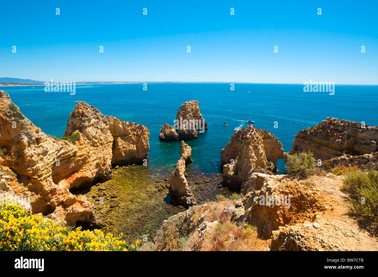 Ponta da Piedade, Algarve, Portugal Stockbild