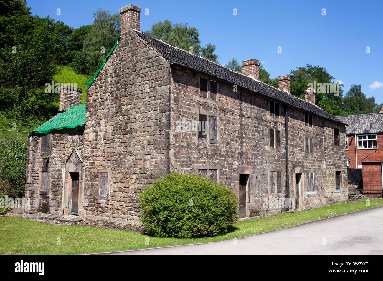 John Smedley gegründet 1784 Hersteller von Designer Strick von ihrer Lea Mühlen-Fabrik in der Nähe Stockbild