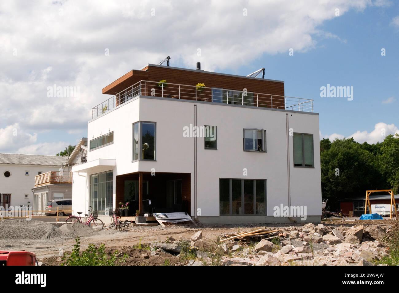 schwedischen modernen Haus Immobilien Häuser große Pläne weiße ...