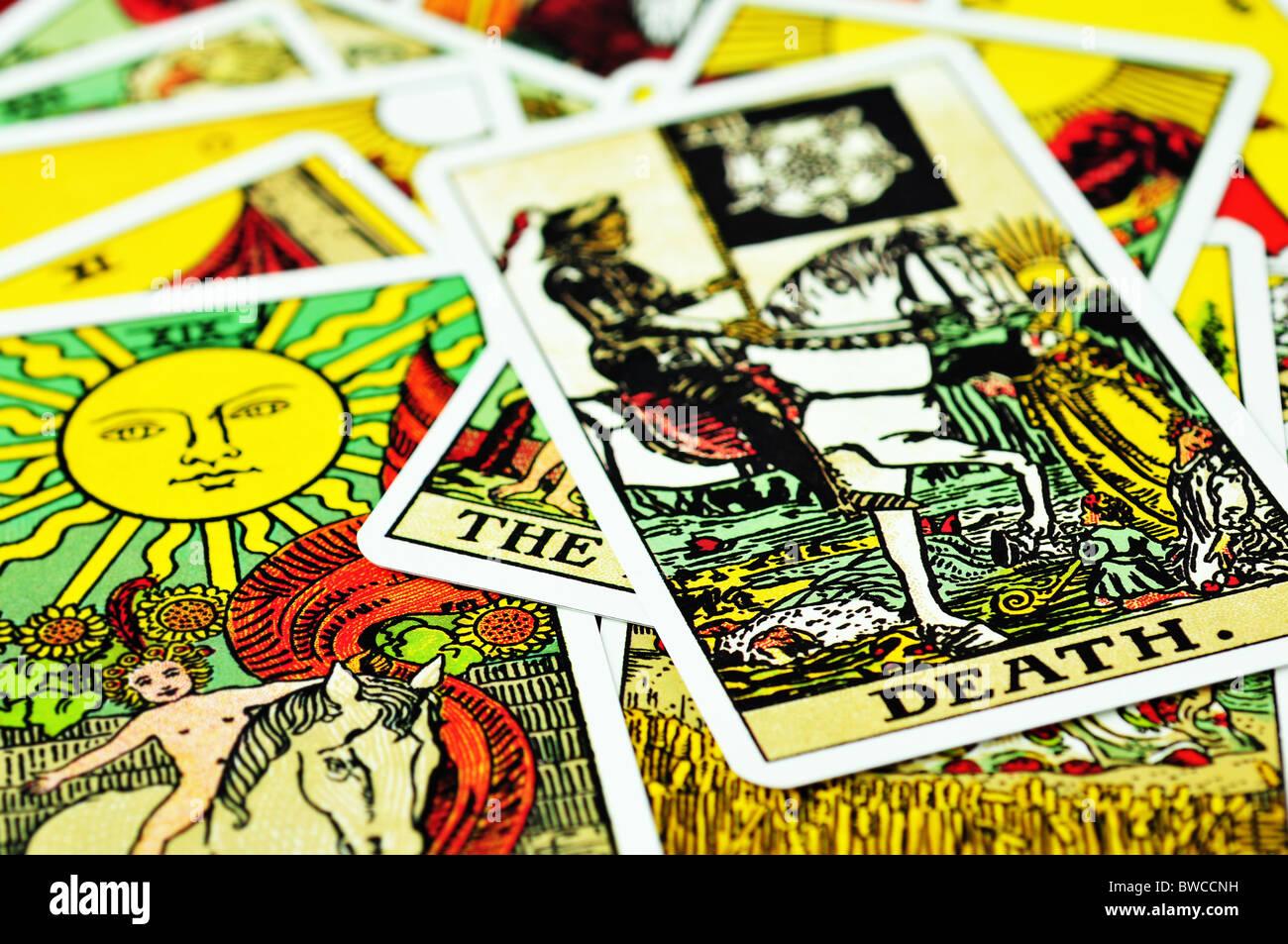 Tarot-Karten Stockbild