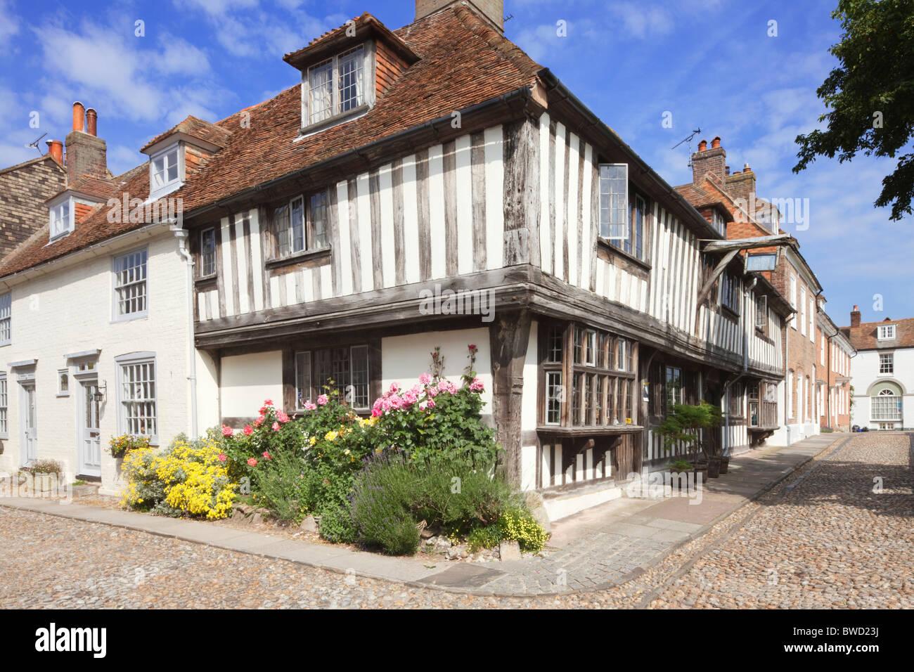 Watchbell Straße; Roggen; East Sussex; England, Großbritannien Stockbild