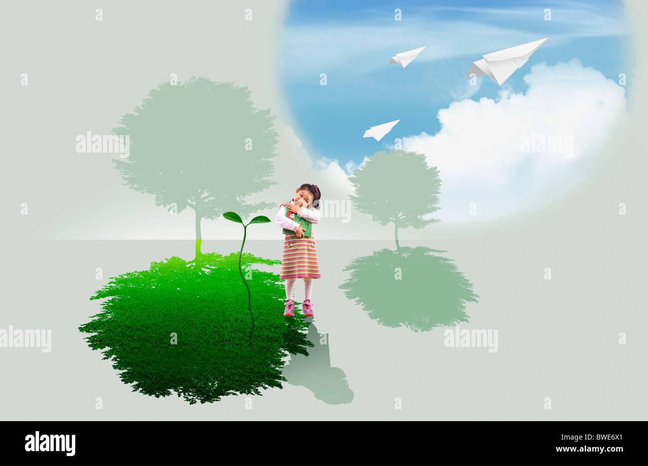 hoffnungsvoll umweltfreundlich Stockbild