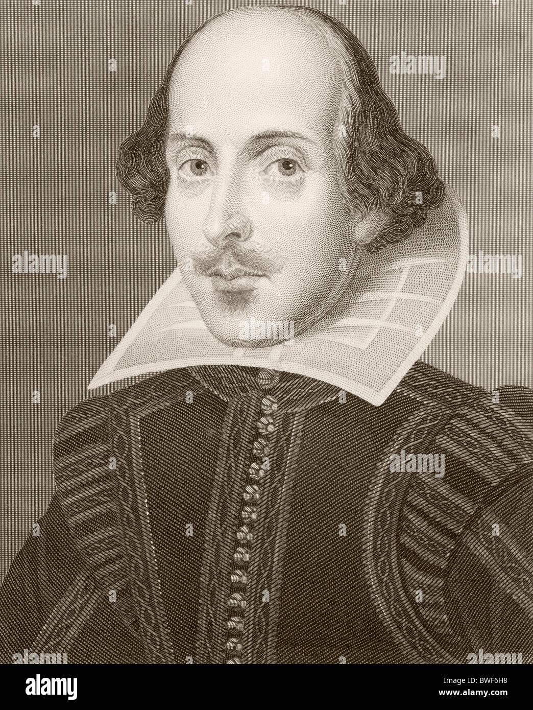 William Shakespeare, 1564 - 1616. Englische Dramatiker und Dichter. Stockfoto