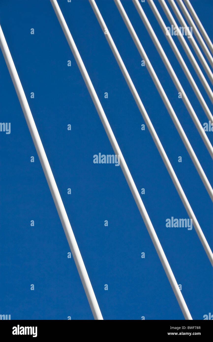 Muster für die Tragseile der Viadukt von Millau die höchste Brücke der Welt, Millau, südlichen Stockbild