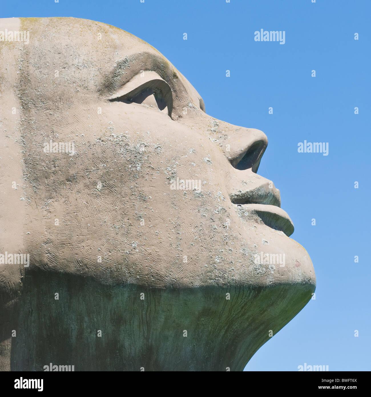 Blik Van Licht, Statue von Charles Delporte, Damme, flämische Region, Belgien Stockbild