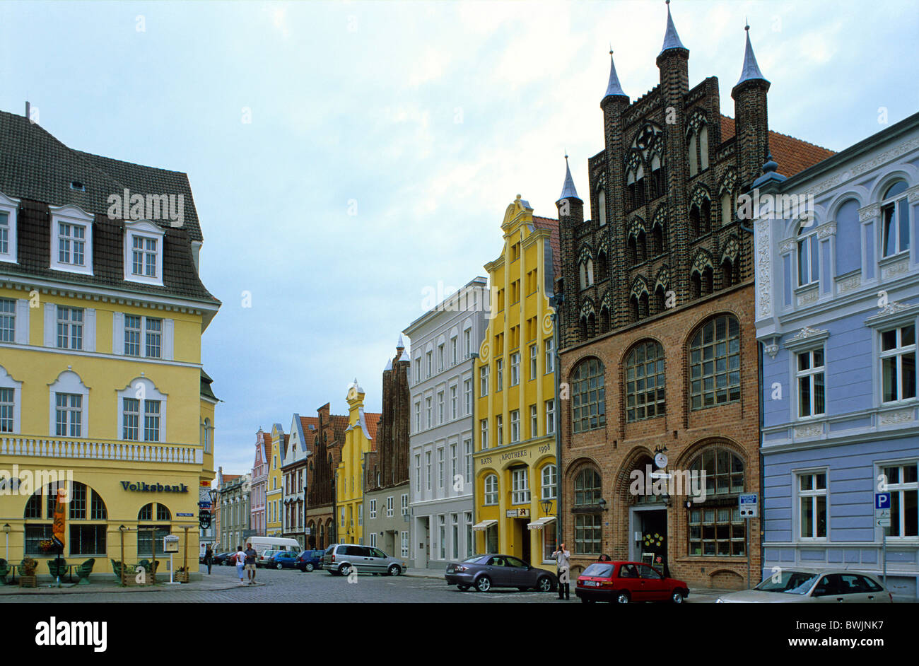 europa deutschland mecklenburg vorpommern stralsund alte marktplatz alter markt mit. Black Bedroom Furniture Sets. Home Design Ideas