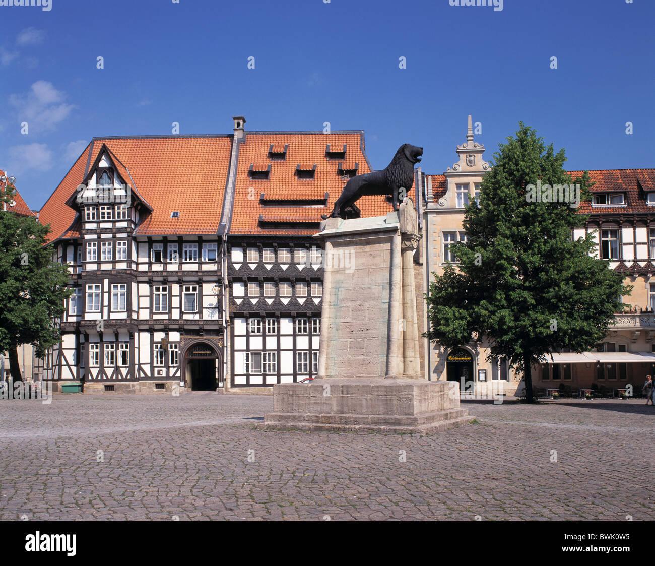 Braunschweiger Altstadt Burg Platzieren Lowenskulpur