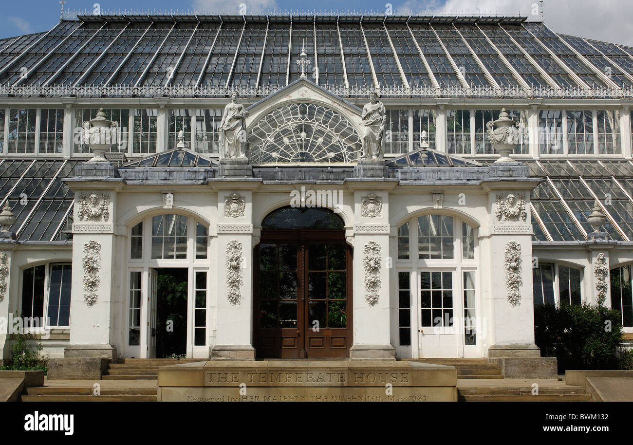 UK London gemäßigten Haus Gewächshaus Royal Botanic Gardens Kew ...
