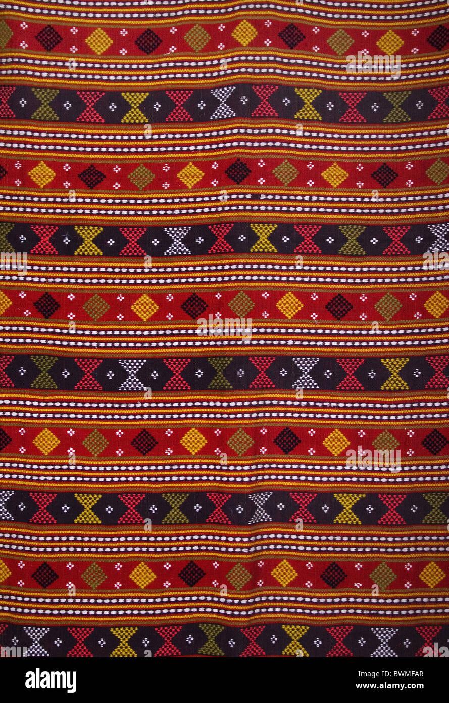 Traditionelle Wolle Teppich aus Bulgarien Stockbild