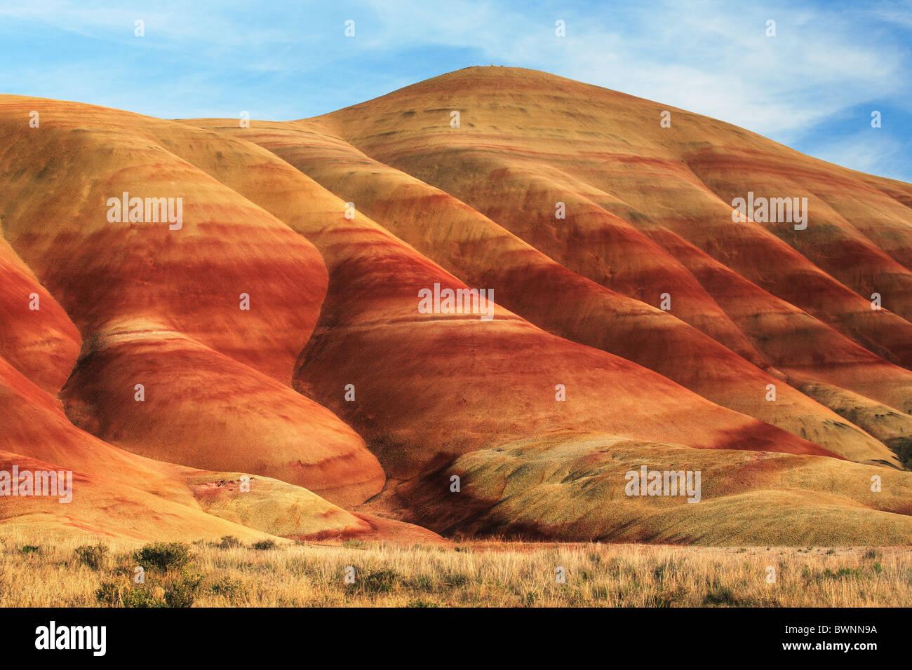 Bemalte Hills ist einer der drei Einheiten von der John Day Fossil Beds National Monument, gelegen im Wheeler County, Stockfoto
