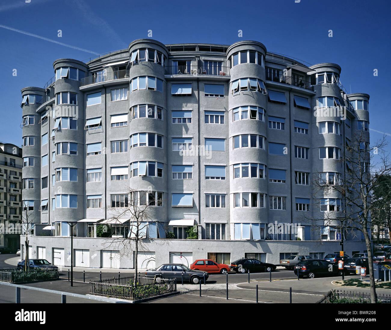 Deco Architektur schweiz europa genf stadt architektur deco 1920 hausbau runden