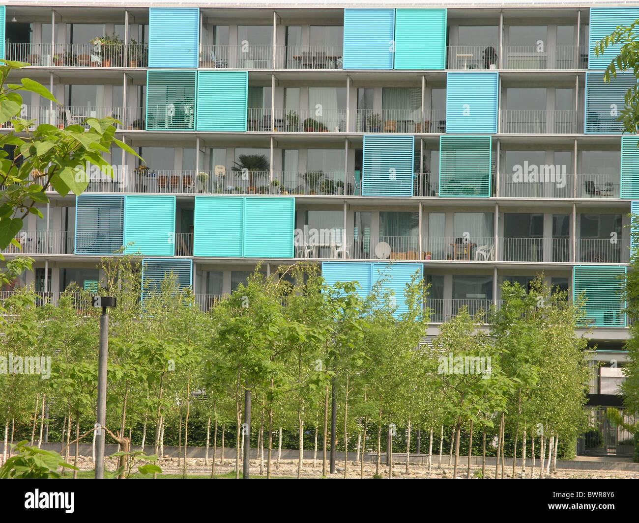 Schweiz Europa Zürich Stadt Oerlikon neue Häuser bauen Immobilien ...