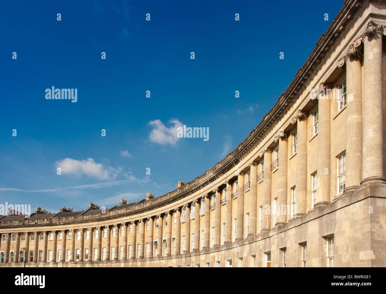 Die Royal Crescent, Bath, England. Stockbild