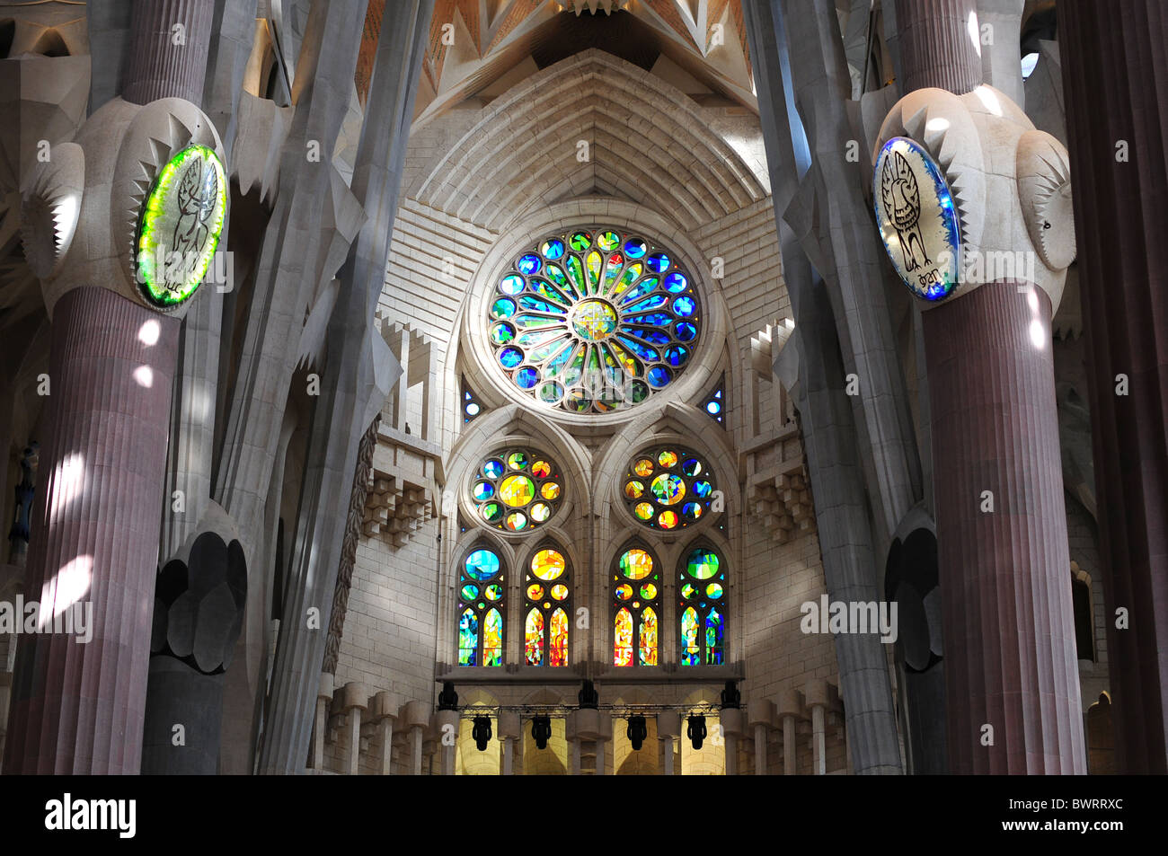 Sagrada Familia Antoni Gaudí Barcelona Spanien Katalonien Stockbild
