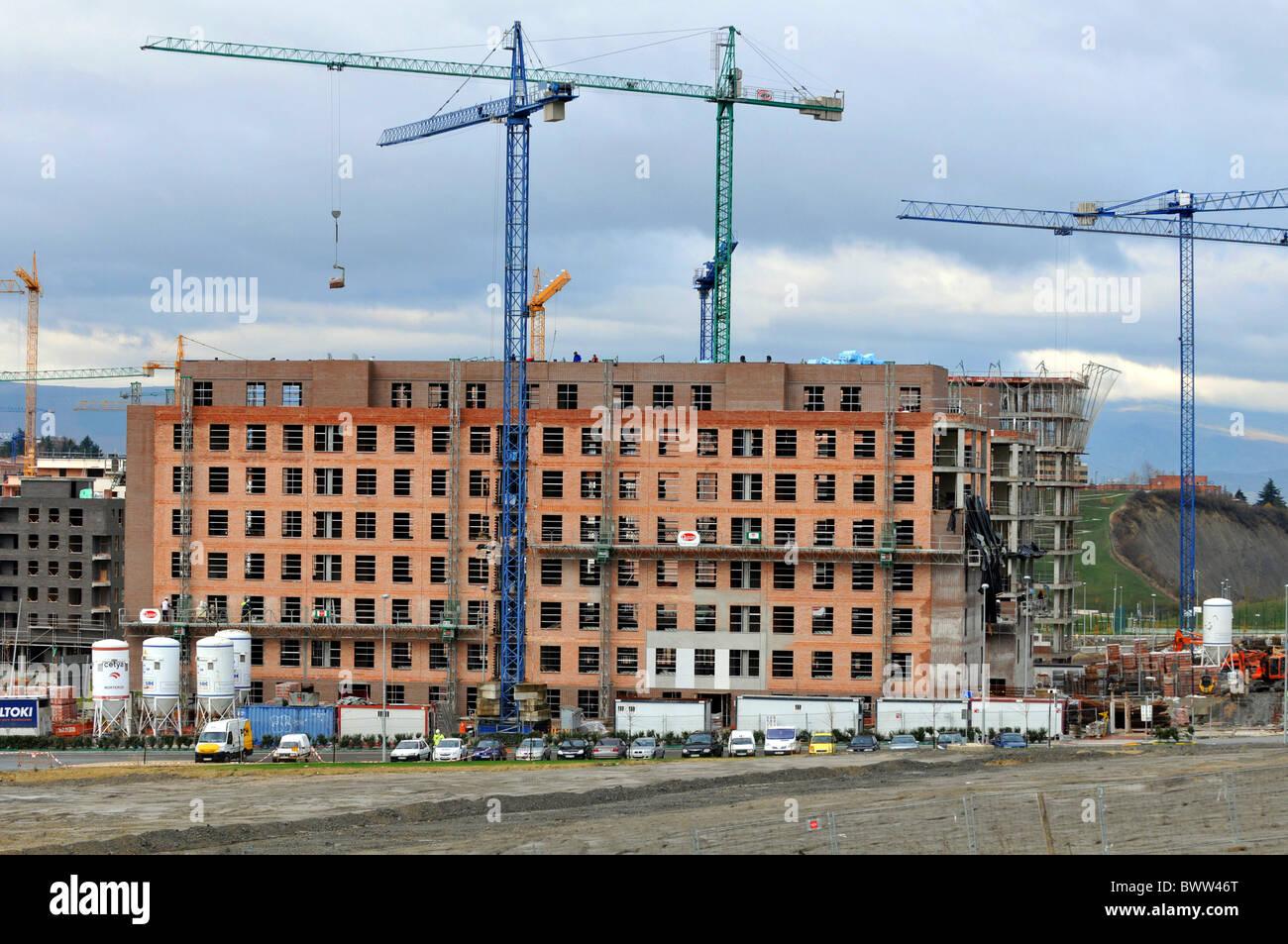 Bauarbeiten, Baustelle, Spanien Stockbild