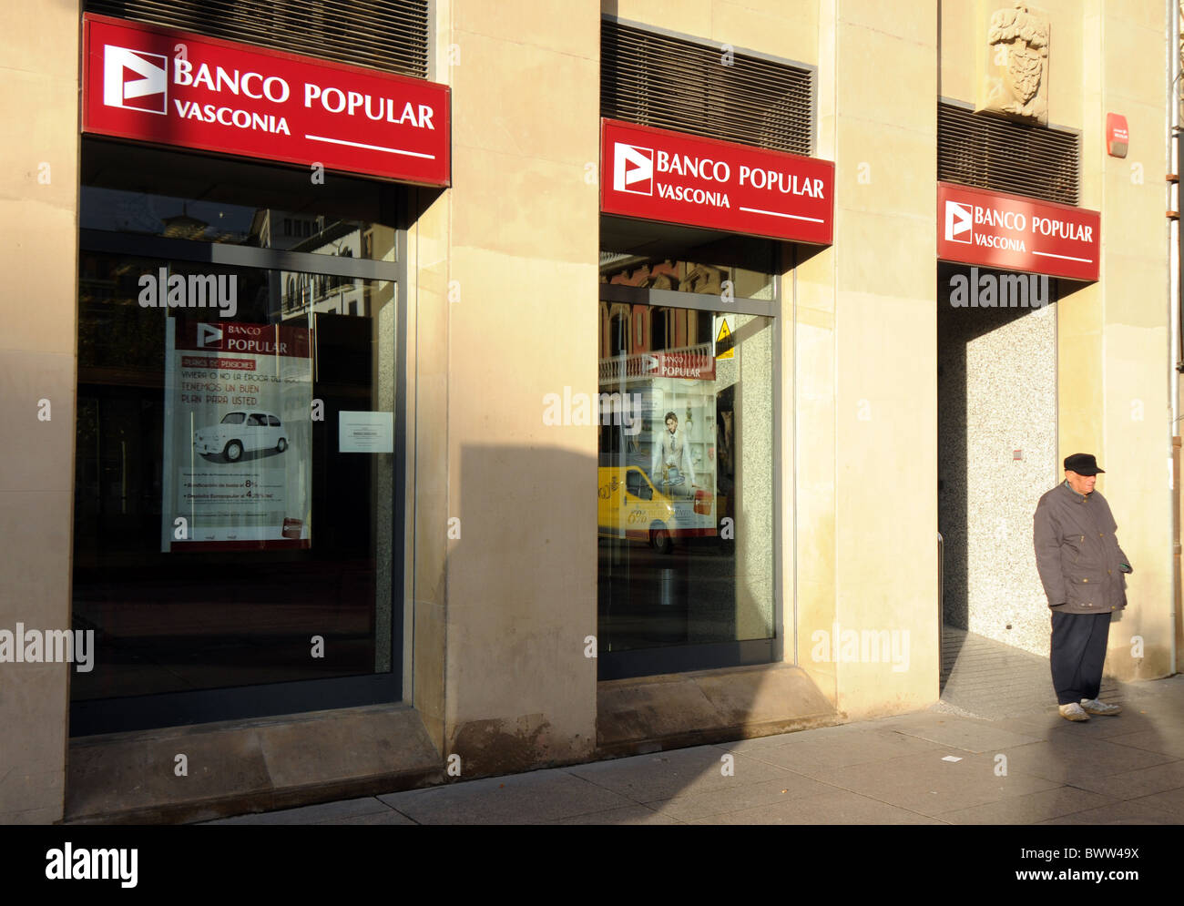 Bank beliebte, Spanien Stockbild