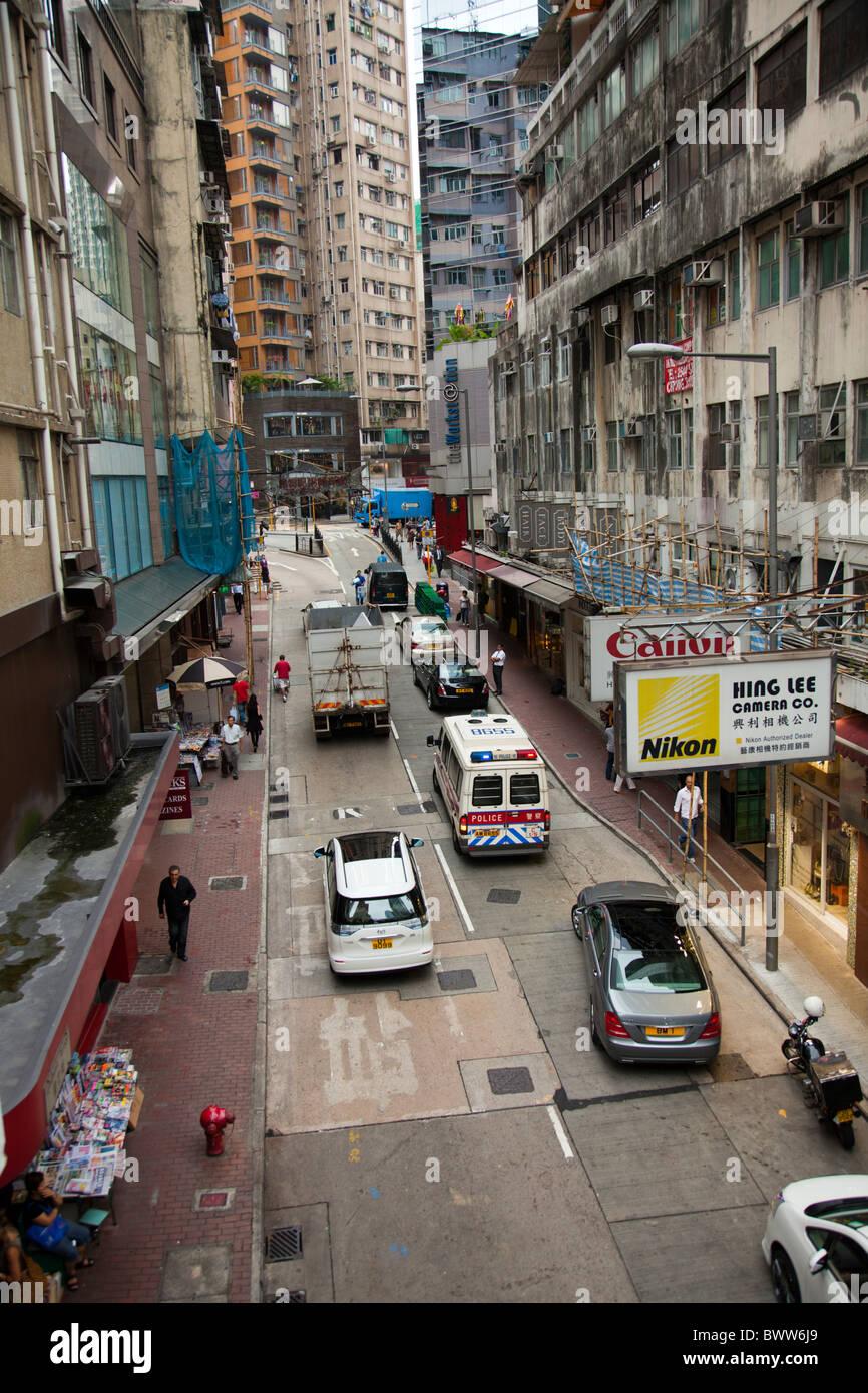 Hong Kong Verkehr in Wan Chai auf Hong Kong Island China Stockbild