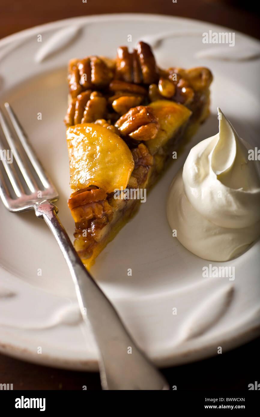 Pecan Apfeltorte Stockbild