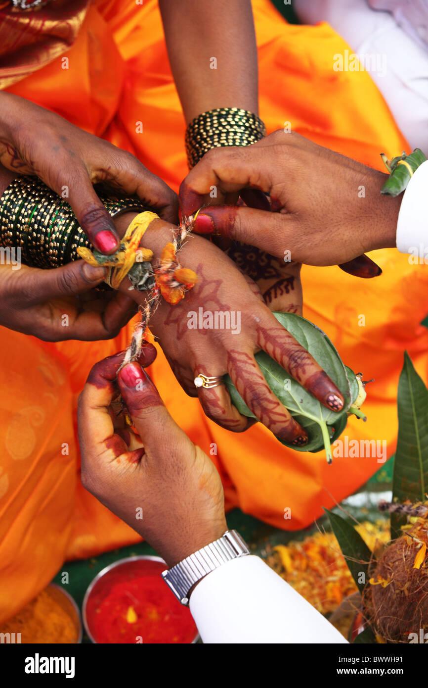 Hochzeitszeremonie Andhra Pradesh In Indien Stockfoto Bild