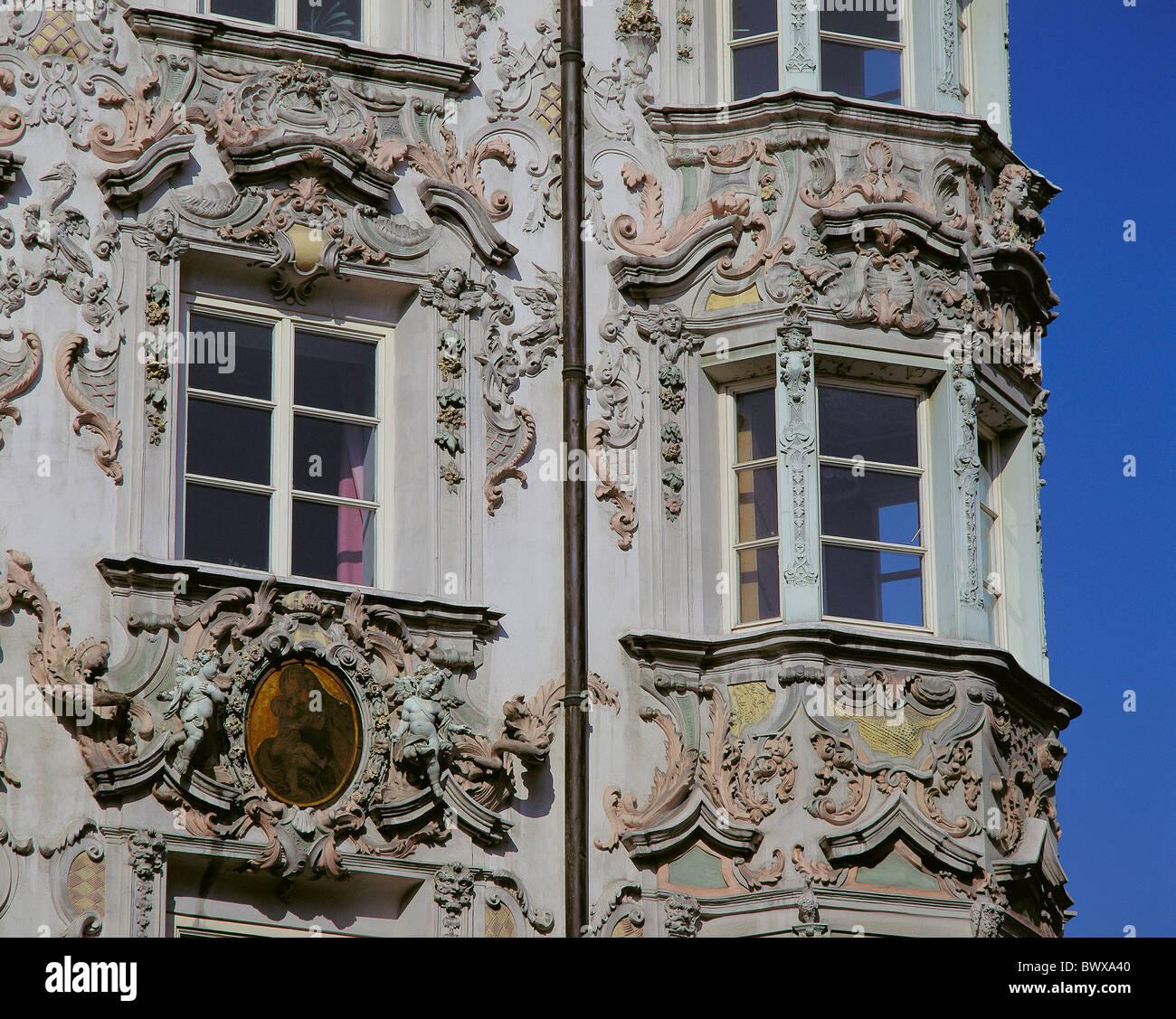 Fallrohr fassade  Haus Heimat Fassade alten Helblinghaus Rokoko Dekorationen Windows ...