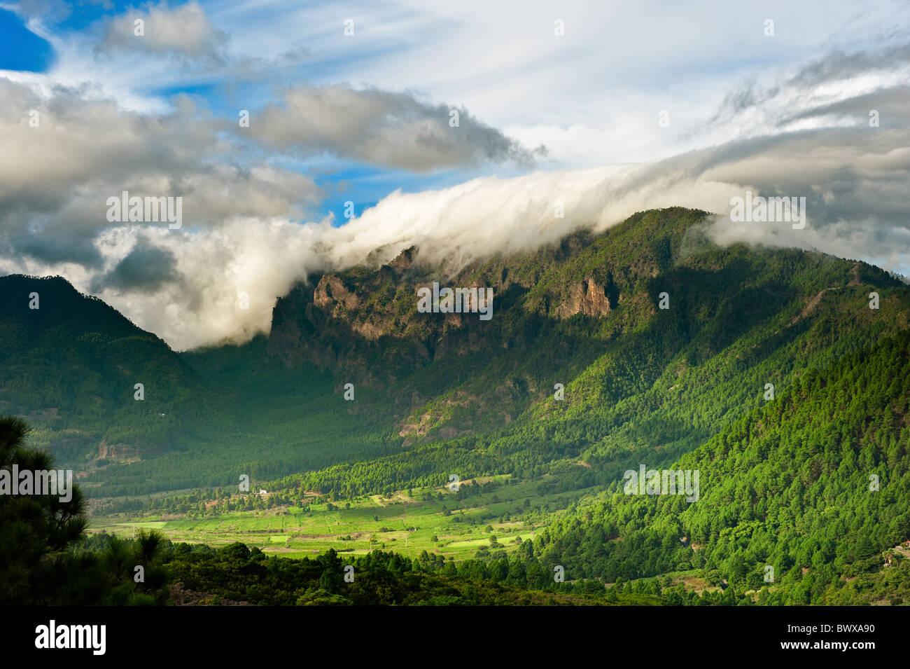 Schöne Landschaft der Berge in La Palma, Kanarische Inseln, Spanien Stockbild