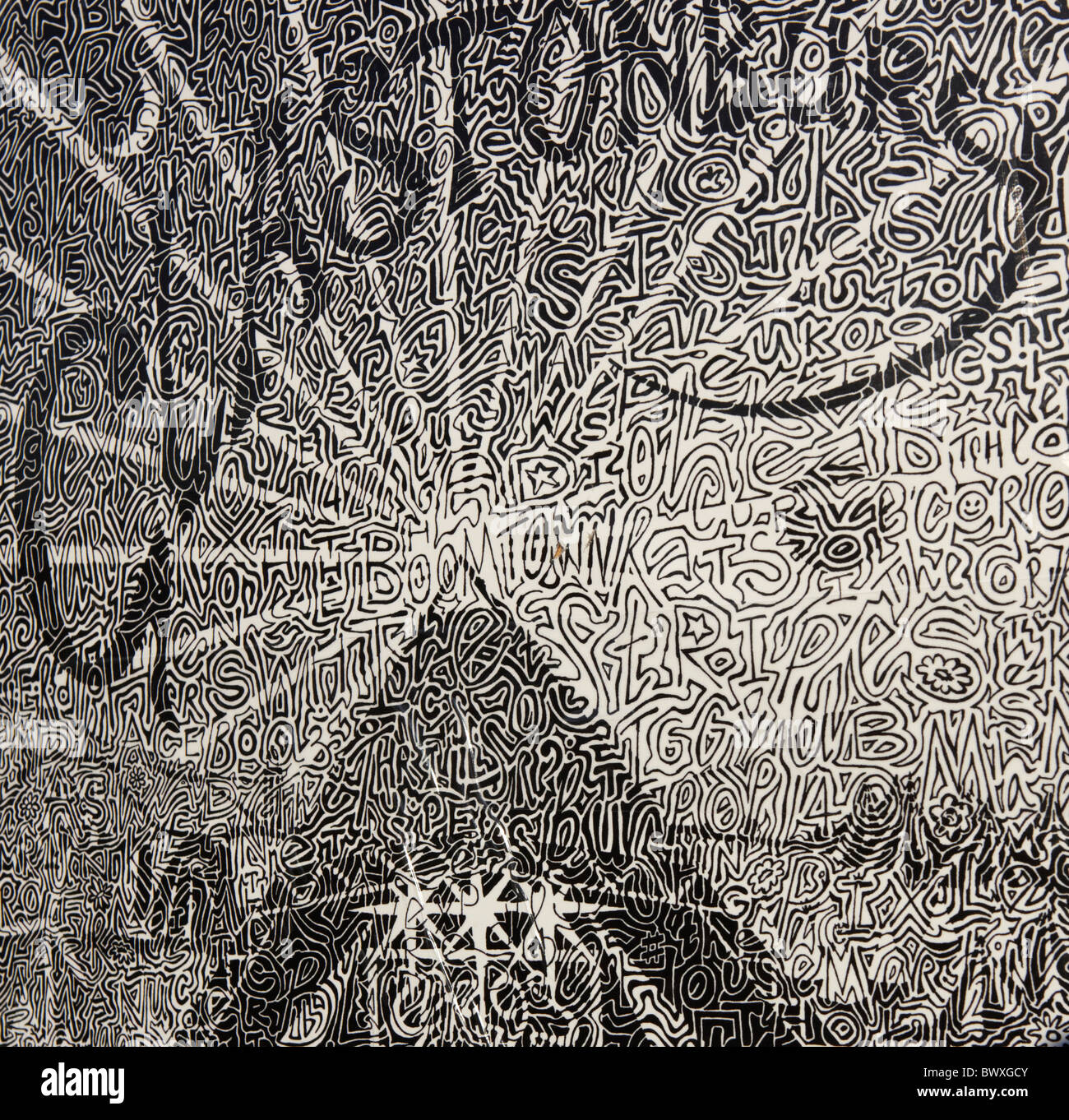Grafik beim Glastonbury Festival Somerset UK Europe Stockbild