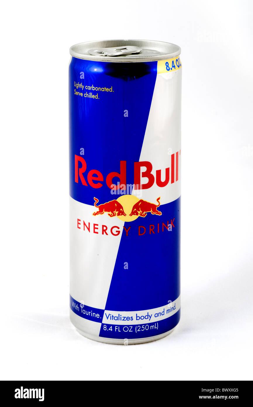 Dose Red Bull Energy Drink, USA Stockbild