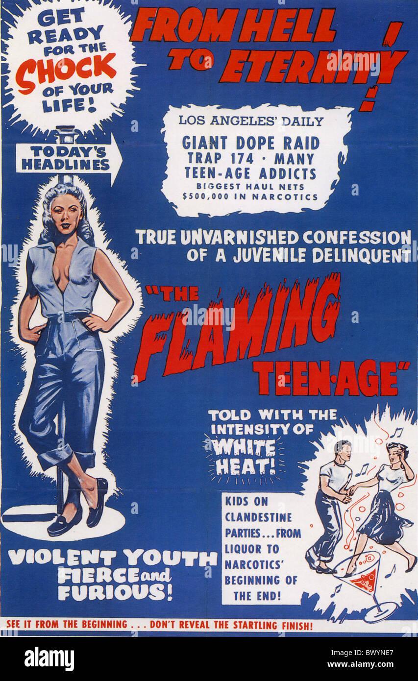DAS flammende Teen Plakat für 1957 film Truman Stockbild