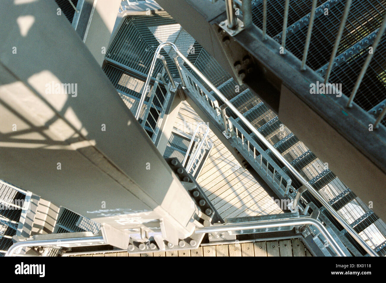 Beobachtung Turm Detail Geländer Hoch Und Tiefbau Arbeiten Bauwesen
