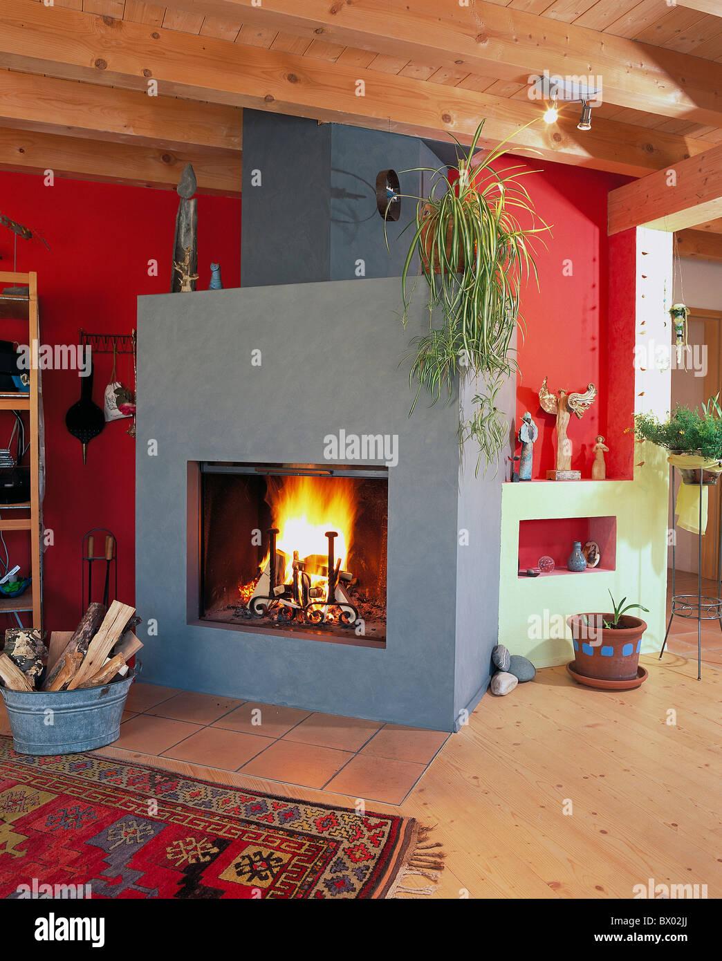 Architektur Friedensreich Hundertwasser-Haus nach Hause innen Kamin ...