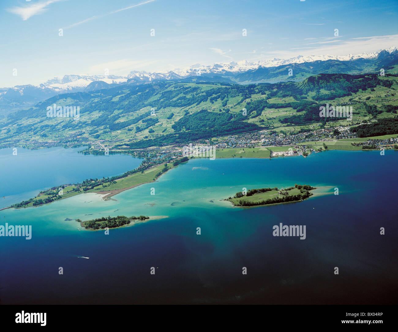Schweiz europa schwyz landschaft luftbild z rich see meer for Innendekoration pfaffikon zh