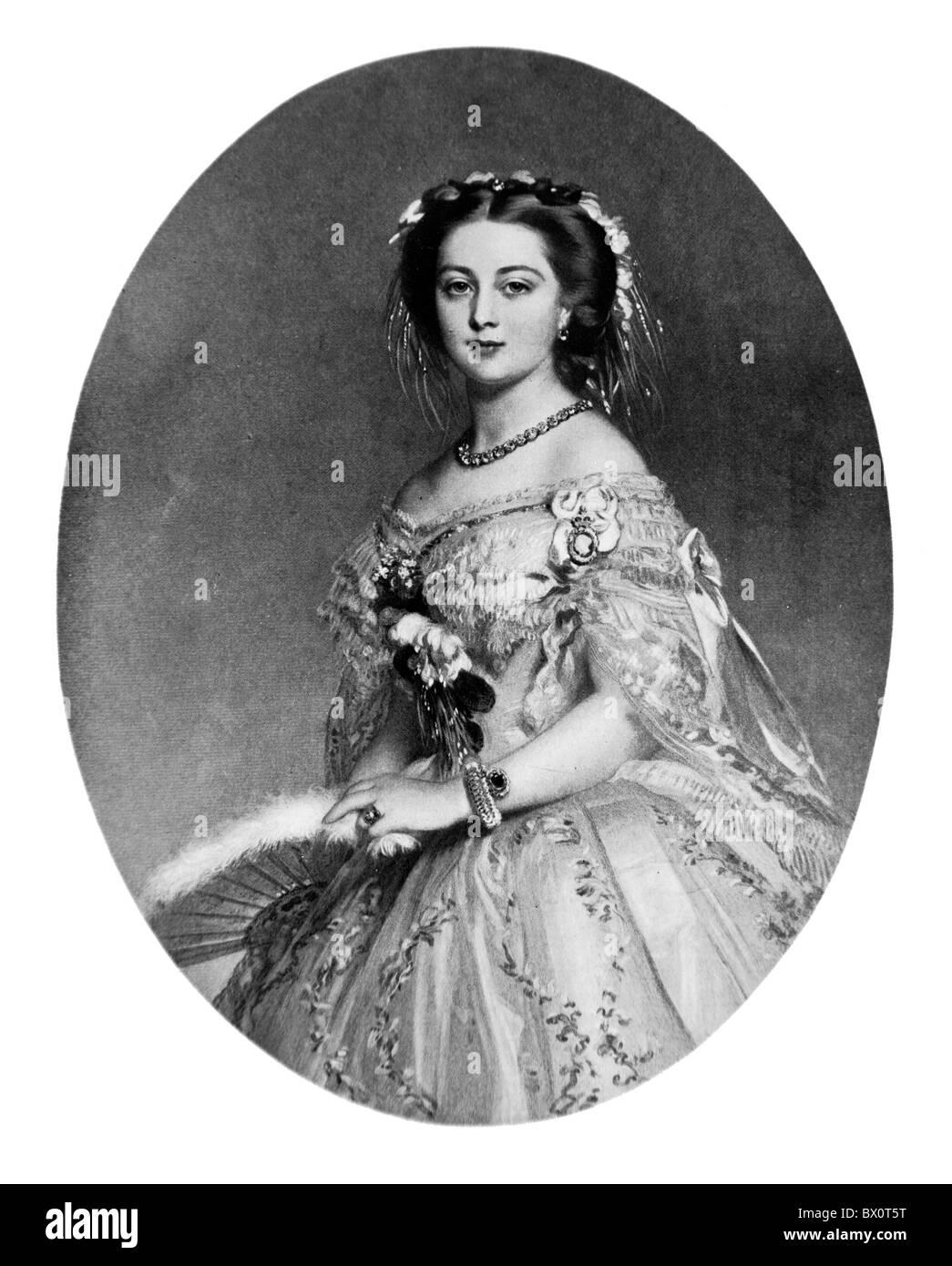 Porträt von Victoria Princess Royal Oberassistenz Königin, Gemälde von Franz Winterhalter Stockbild
