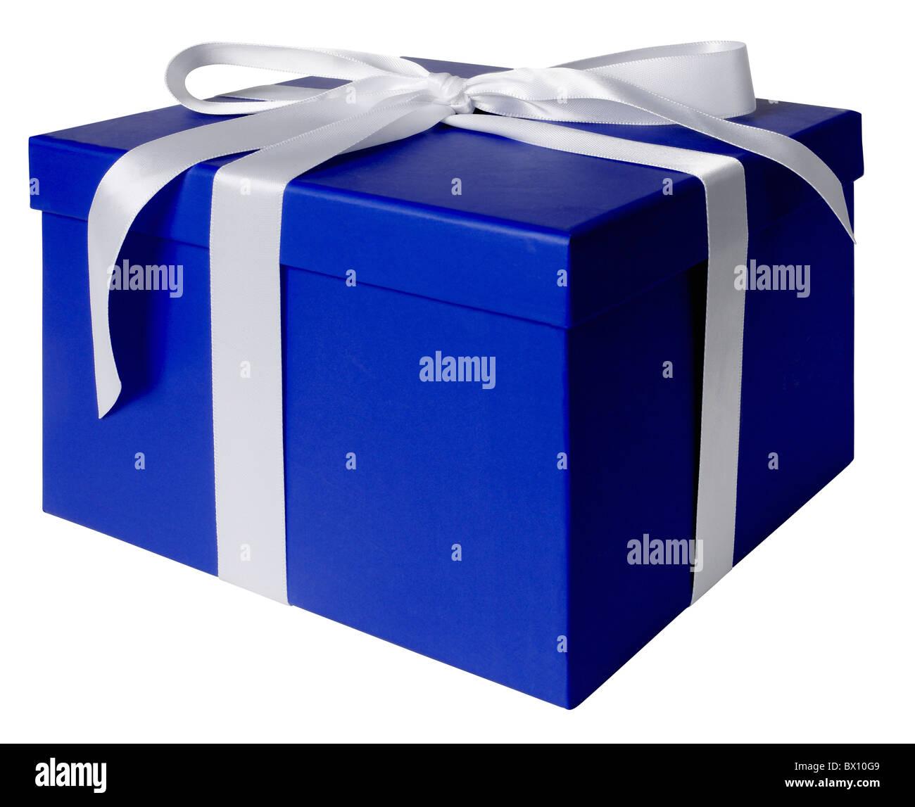 blaues Geschenk-box Stockbild