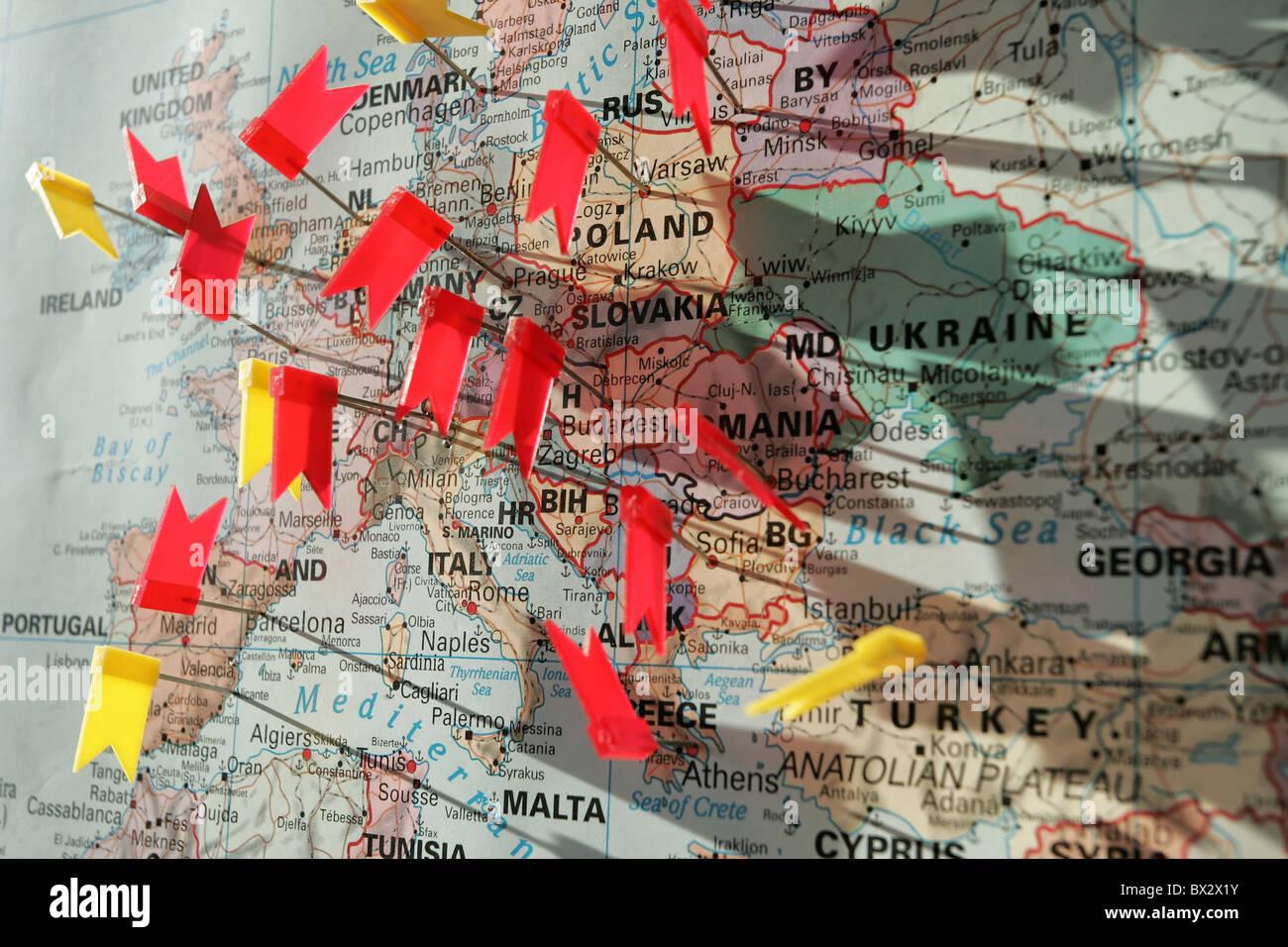Karte Von Europa Mit Städten.Gewerblichen Wirtschaft Karte Karte Spielen Karten Europa Städte