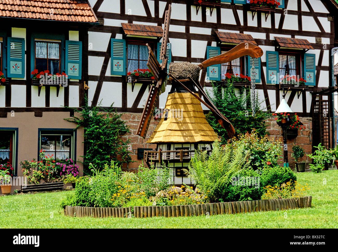 Loffenau Häuser Häuser historische Wind Mühle Rahmen Fachwerk Häuser ...