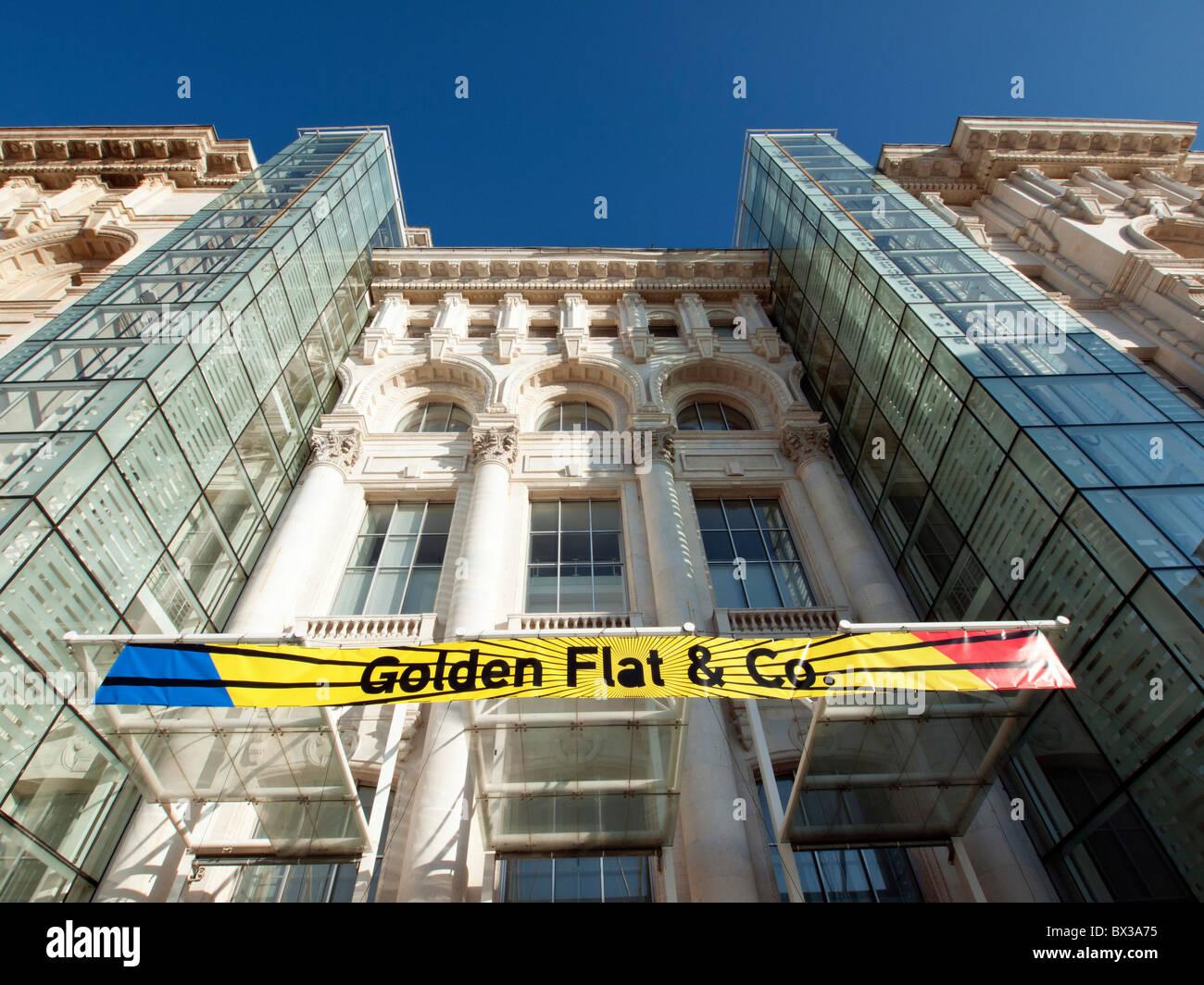 Blick auf das Museum für zeitgenössische Kunst in Bukarest Rumänien Stockbild