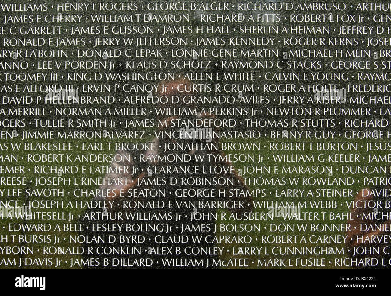 Name Panel Anzeigen Von Namen Von Gefallenen Us Soldaten