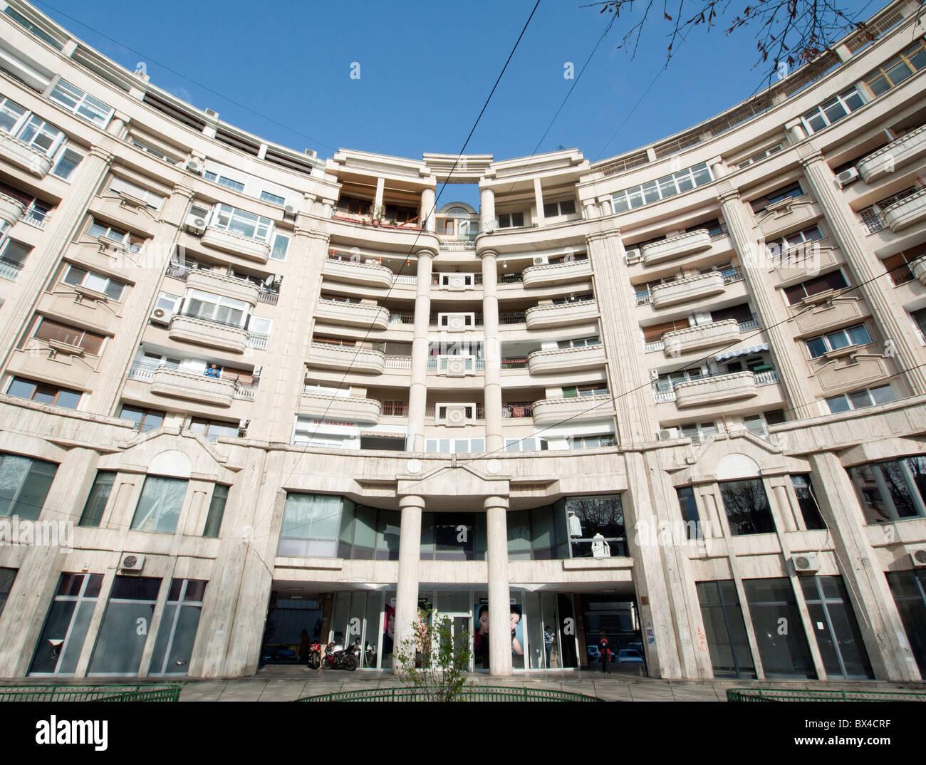 Kommunistischen Ära Wohngebäude auf Boulevard Unirii in Bukarest Rumänien Stockbild