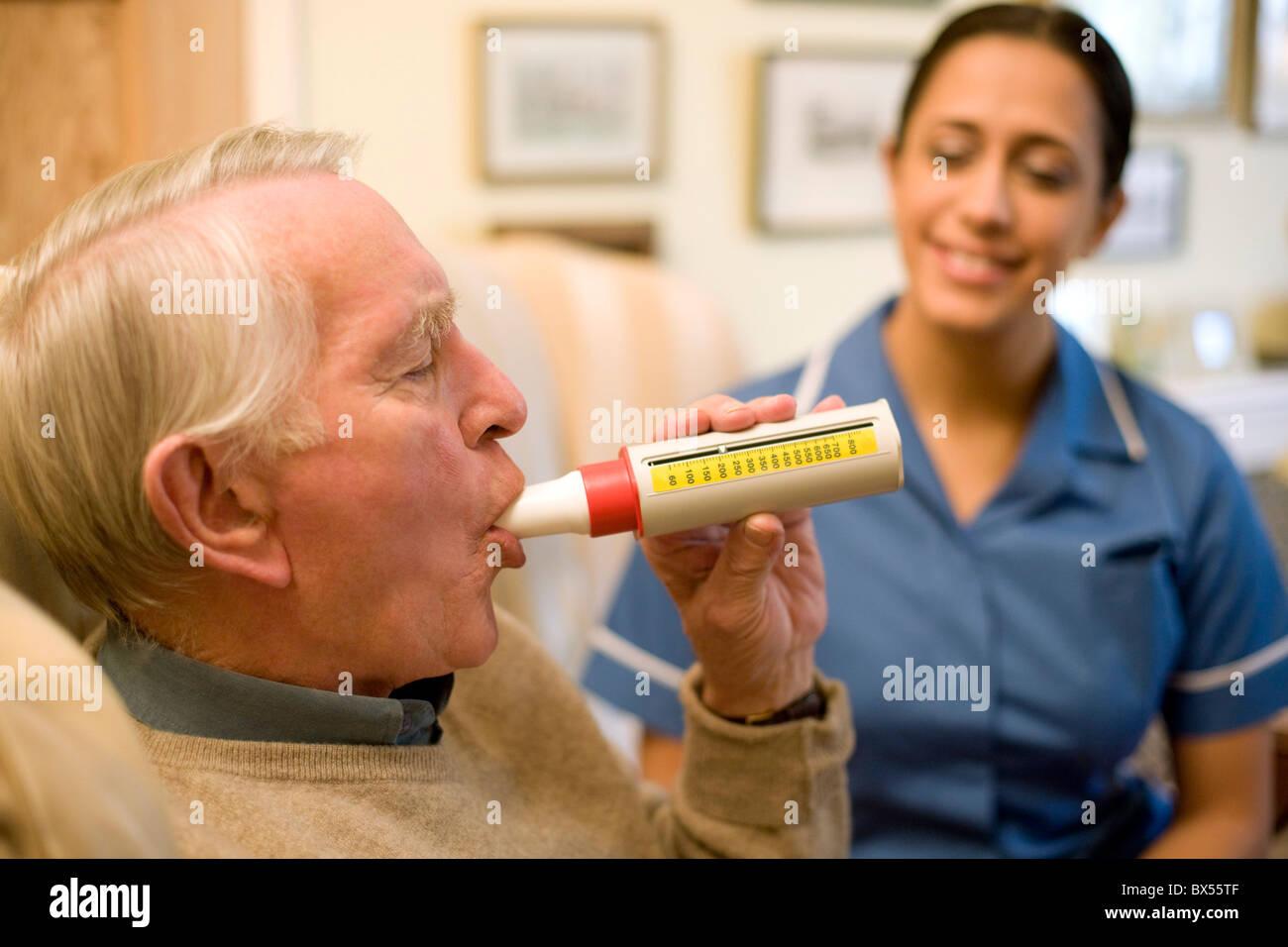 Lungenfunktionstest Stockbild