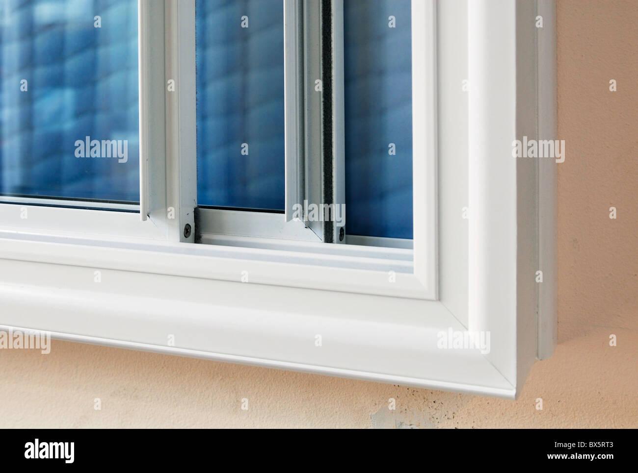 Sekundäre Fenster Verglasung isoliert, Wärme- und Geräuschentwicklung Stockbild