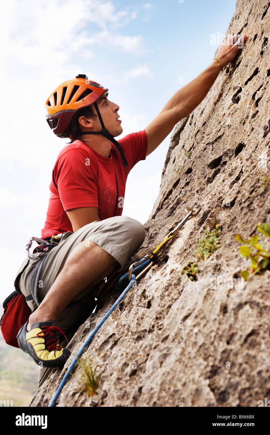 Klettern Stockfoto
