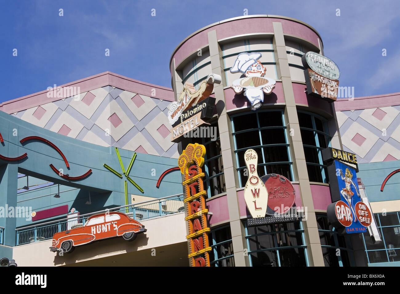 Historischen Neon Schilder in der Neonopolis Mall auf der Fremont Street, Las Vegas, Nevada, Vereinigte Staaten Stockfoto
