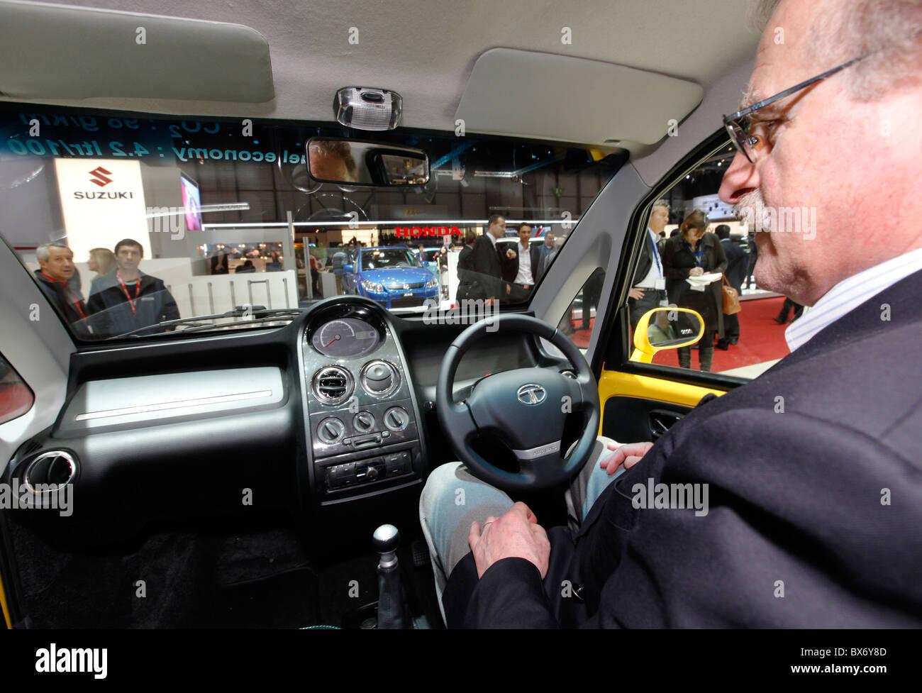 Innere des Tata Nano Auto während dem 79. Automobilsalon in Genf ...
