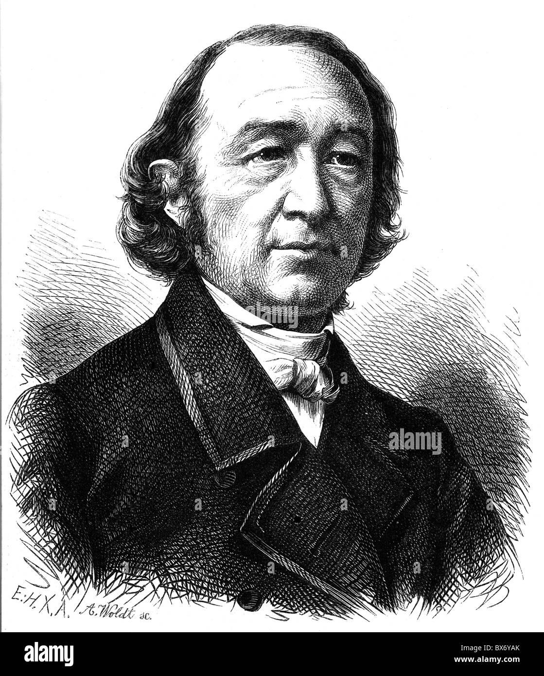Sturm, Julius, 21.7.1816 - 2.5.1896, deutscher Dichter, Porträt, holzstich von A. Woldt, nach Foto, 19. Jahrhundert, Stockbild