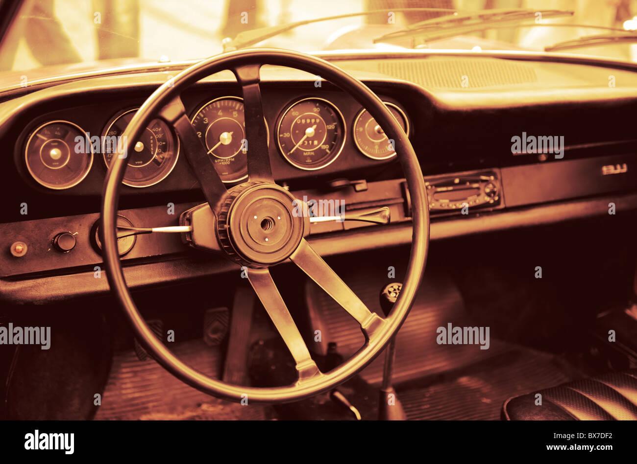Amerikanischen Traum. Getönten altes Auto Stockbild