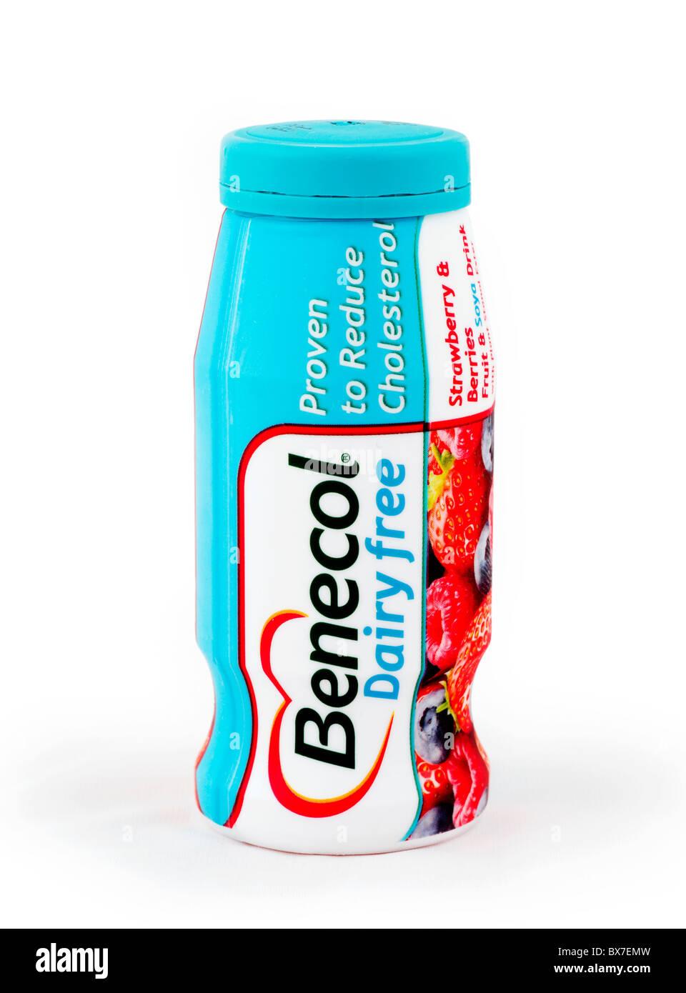 Benecol cholesterinsenkenden Getränk Flasche Stockbild