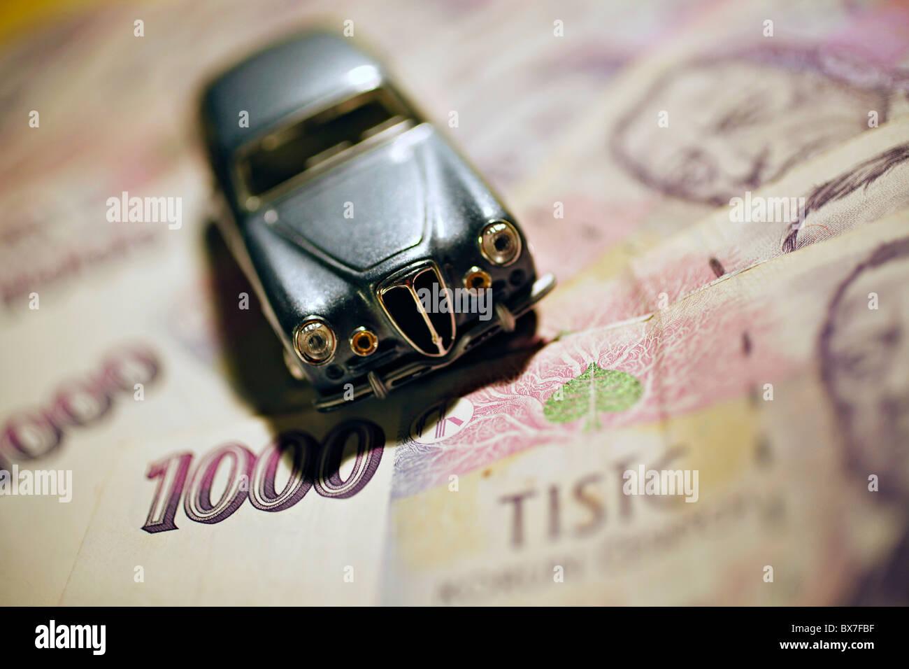Auto, Modell, Aurelia GT-B20, Banknoten, Geld zu sparen, Stockbild
